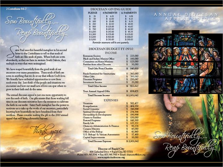 Markus Erk/ProPrint Catholic Diocese of Rapid City Brochure Rapid City, SD