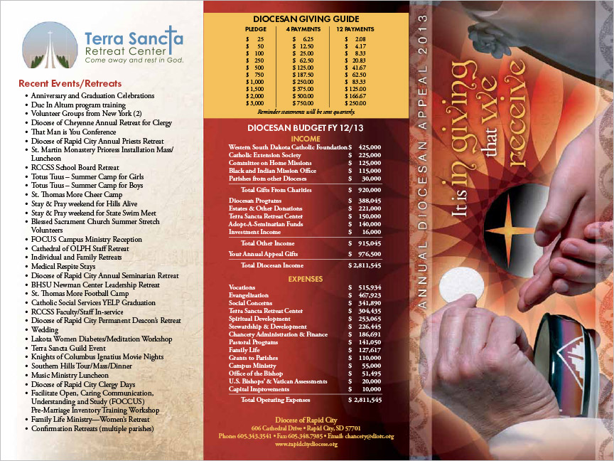 Markus Erk/ProPrint Catholic Diocese of Rapid City Brochure South Dakota