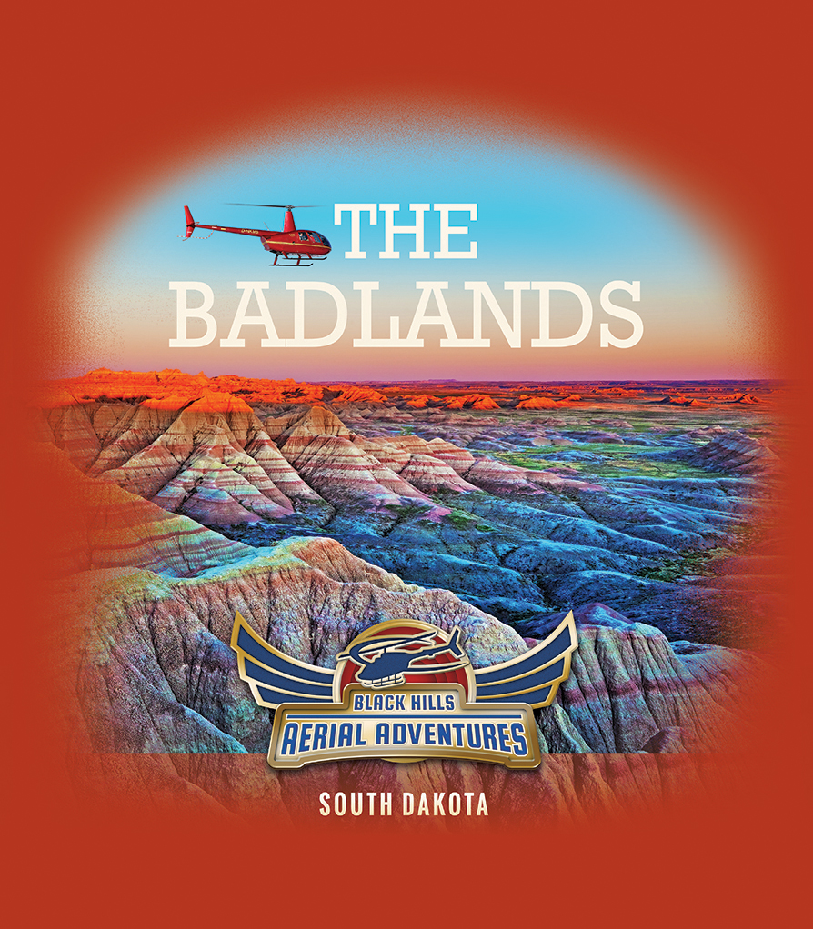 Black Hills Aerial Adventures: The Badlands Shirt Design