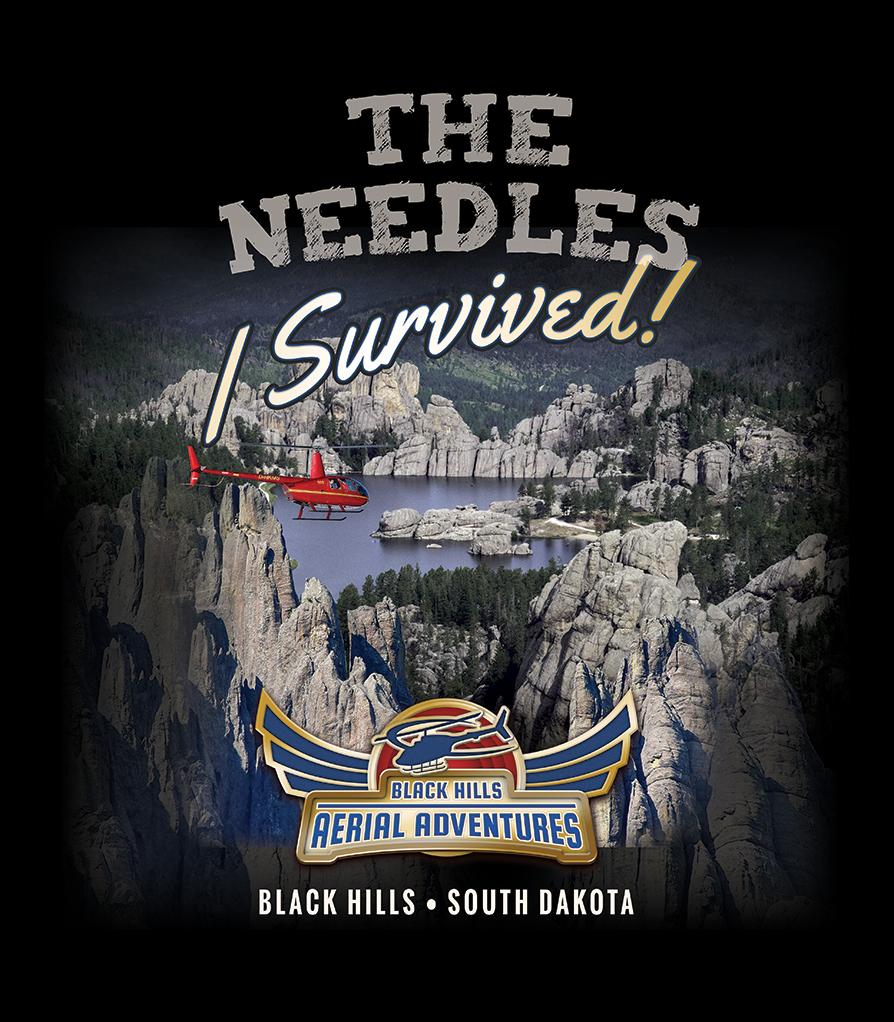 Black Hills Aerial Adventures: The Needles Shirt Design