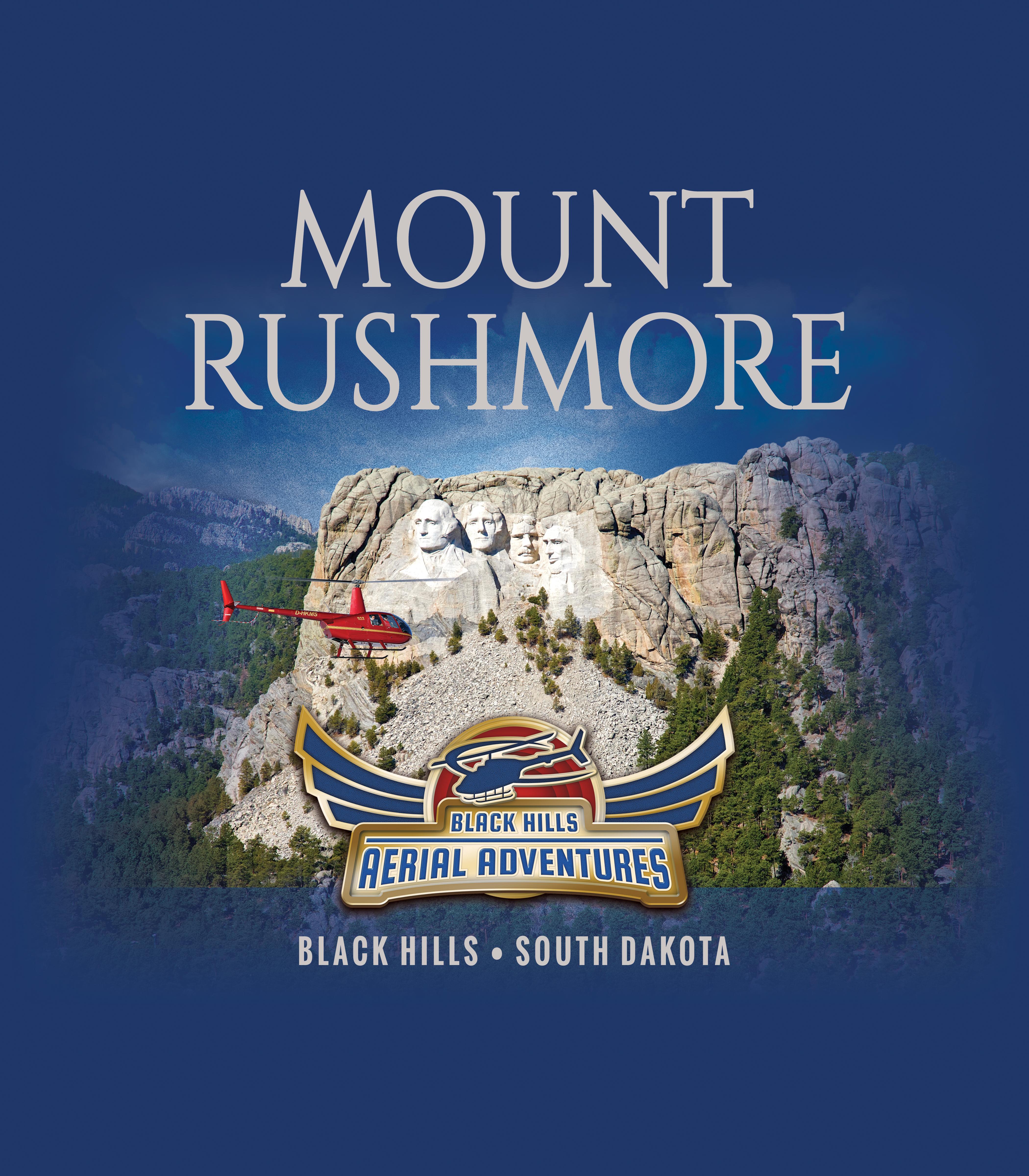 Black Hills Aerial Adventures: Mount Rushmore Shirt Design