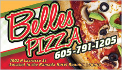 Belles Pizza Deal Card Rapid City, SD