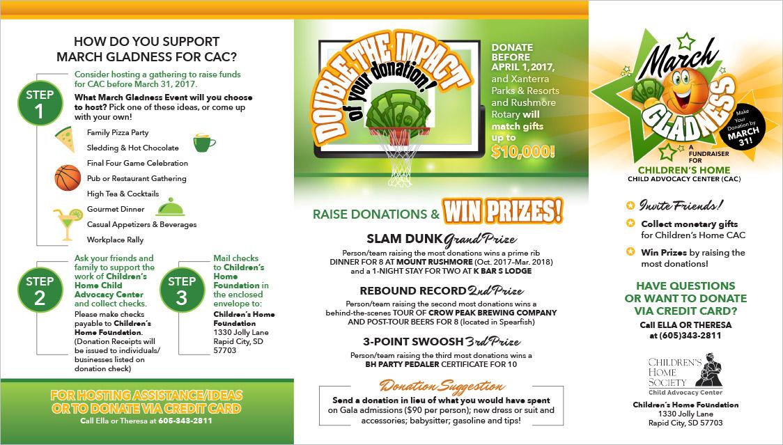 Black Hills Children's Home Society Fundraising Brochure Rapid City, SD