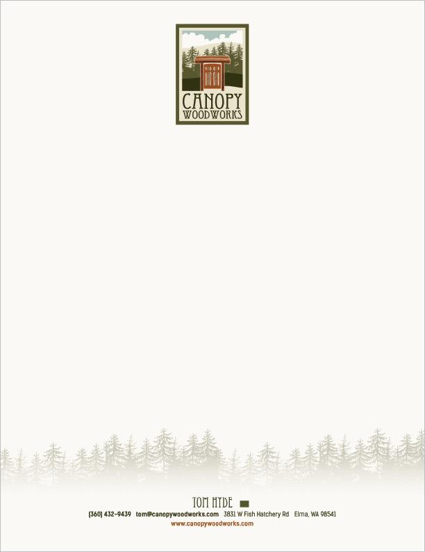 Canopy Woodworks Letterhead Elma, WA