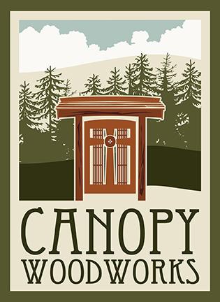 Canopy Woodworks Logo Elma, WA
