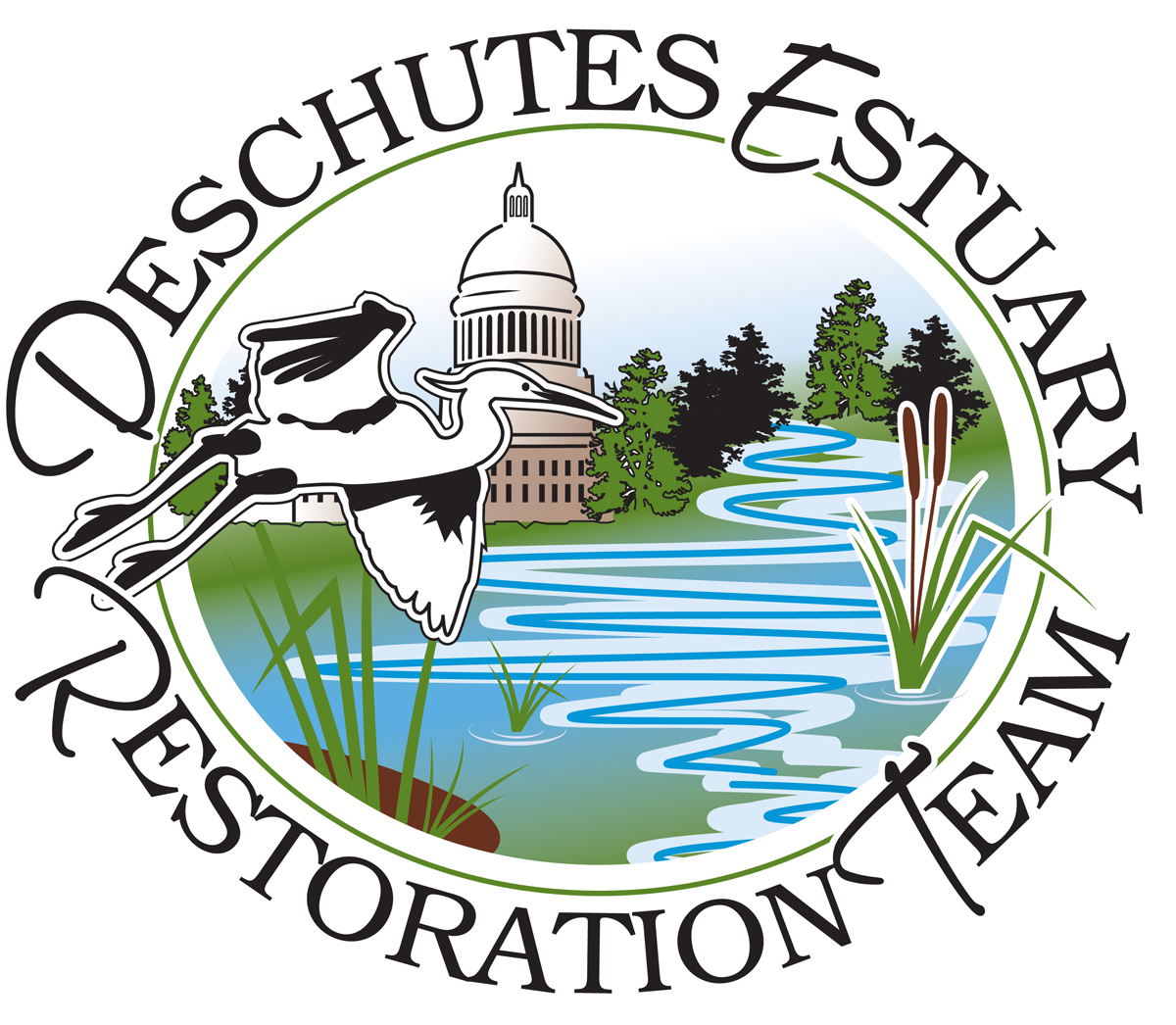 Deschutes Estuary Restoration Team Logo Olympia, WA