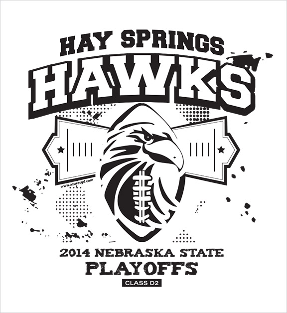 Hay Springs High School Football Shirt Design Hay Springs, NE