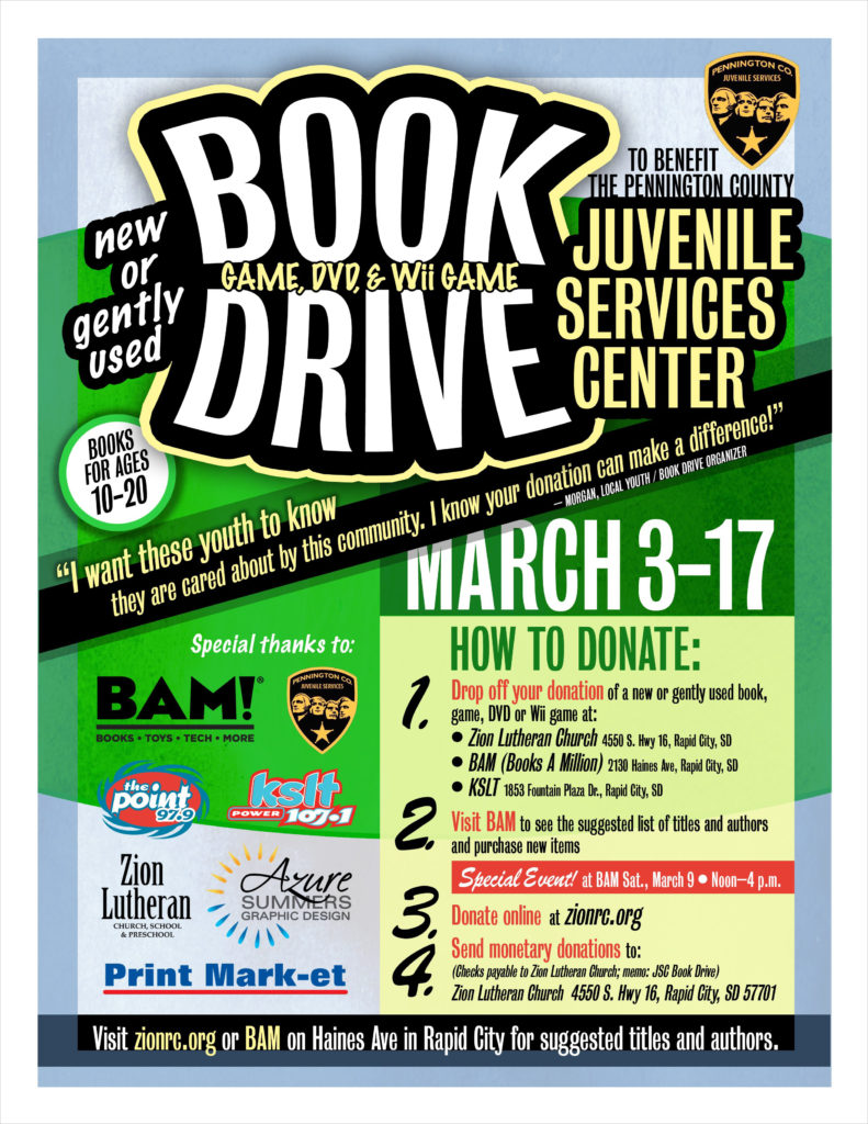 Phillips Book Drive Flyer Rapid City, SD