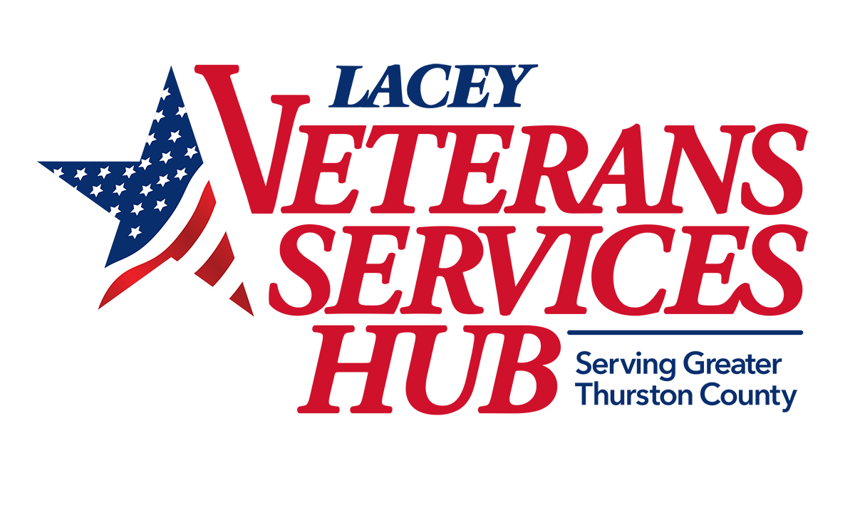 City of Lacey Public Affairs Veterans Hub Logo Lacey, WA