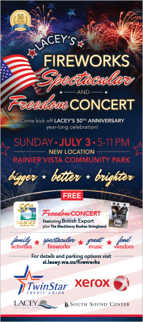 City of Lacey Public Affairs Fireworks Rack Card Lacey, WA