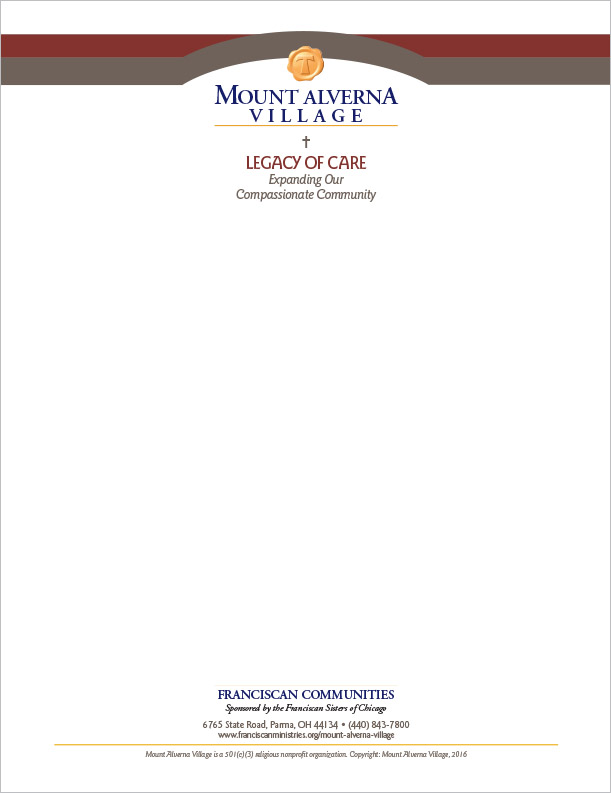 Abbey Group Mount Alverna Village Letterhead Rapid City, SD