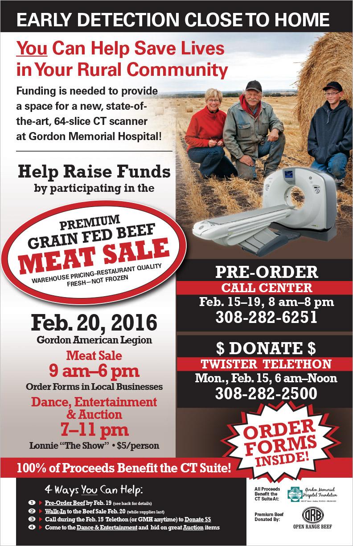 Open Range Beef Fundraiser Poster Gordon, NE