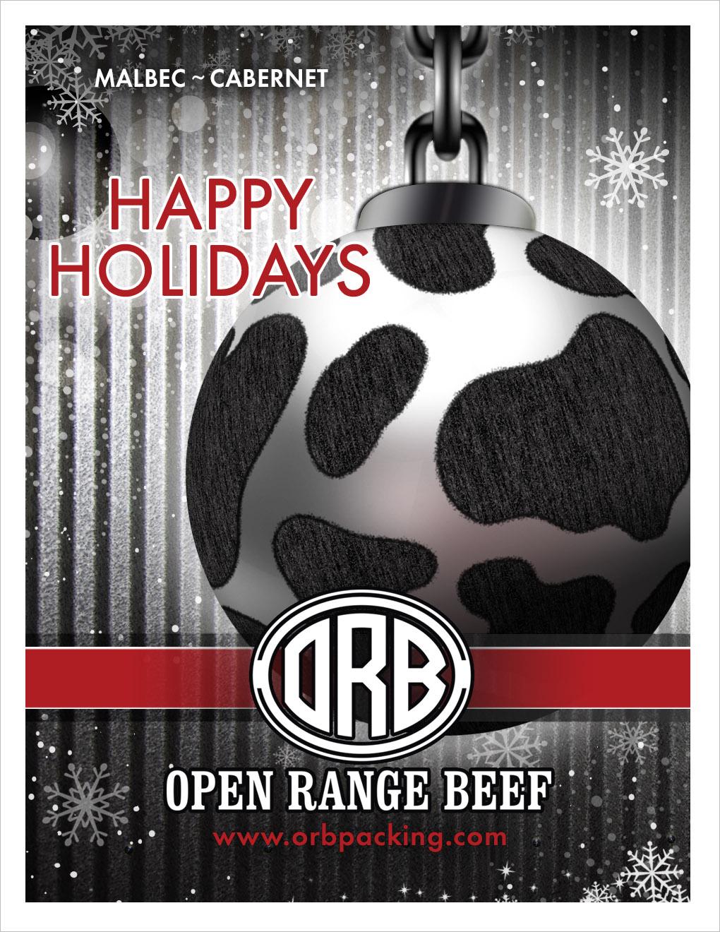 Open Range Beef Wine Label Gordon, NE