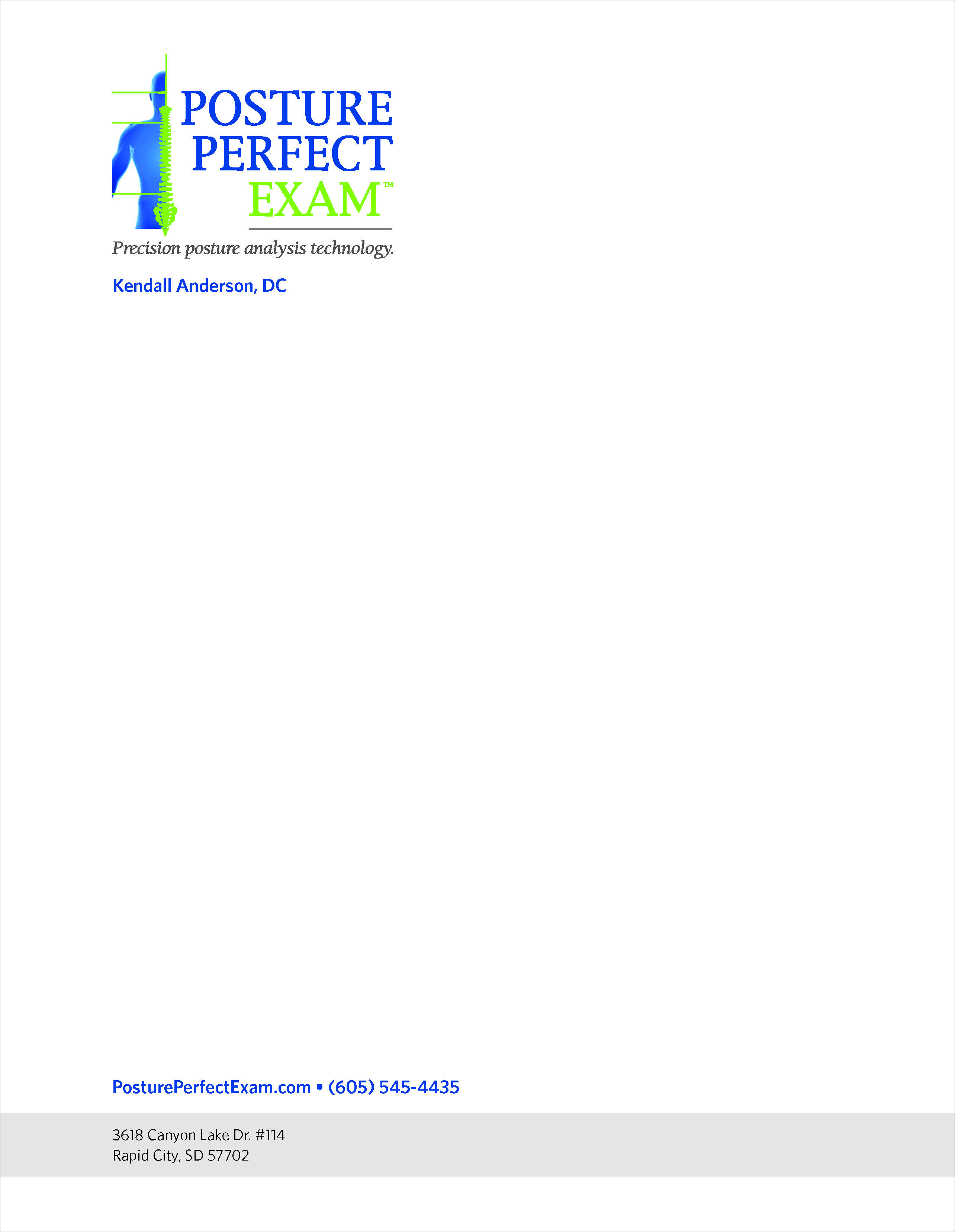 Posture Perfect Exam Letterhead