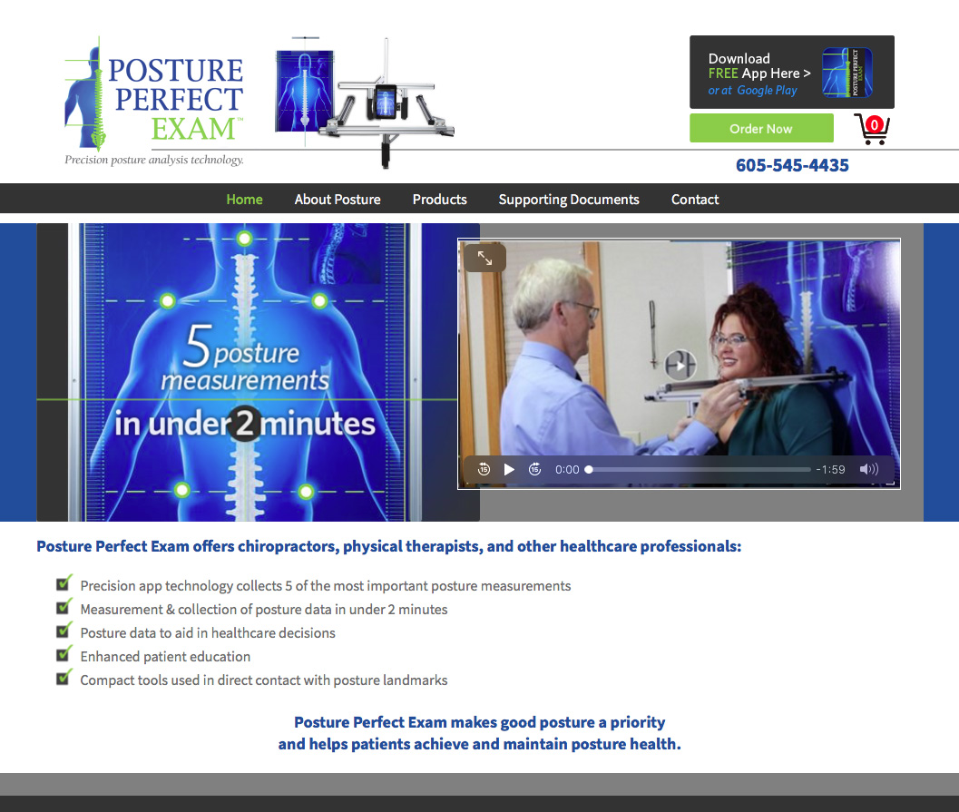Posture Perfect Exam Website