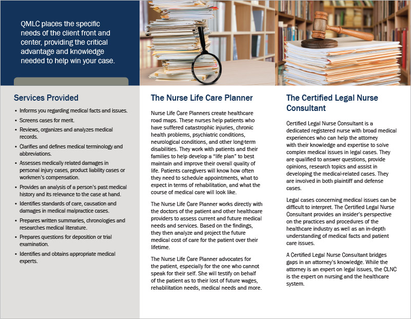 Quality Medical Legal Consulting Brochure Rapid City, SD