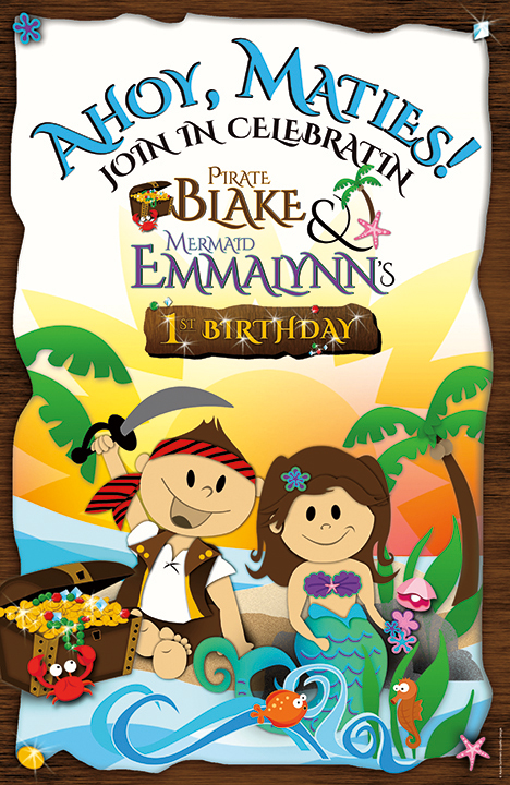 Pirate Birthday Illustration