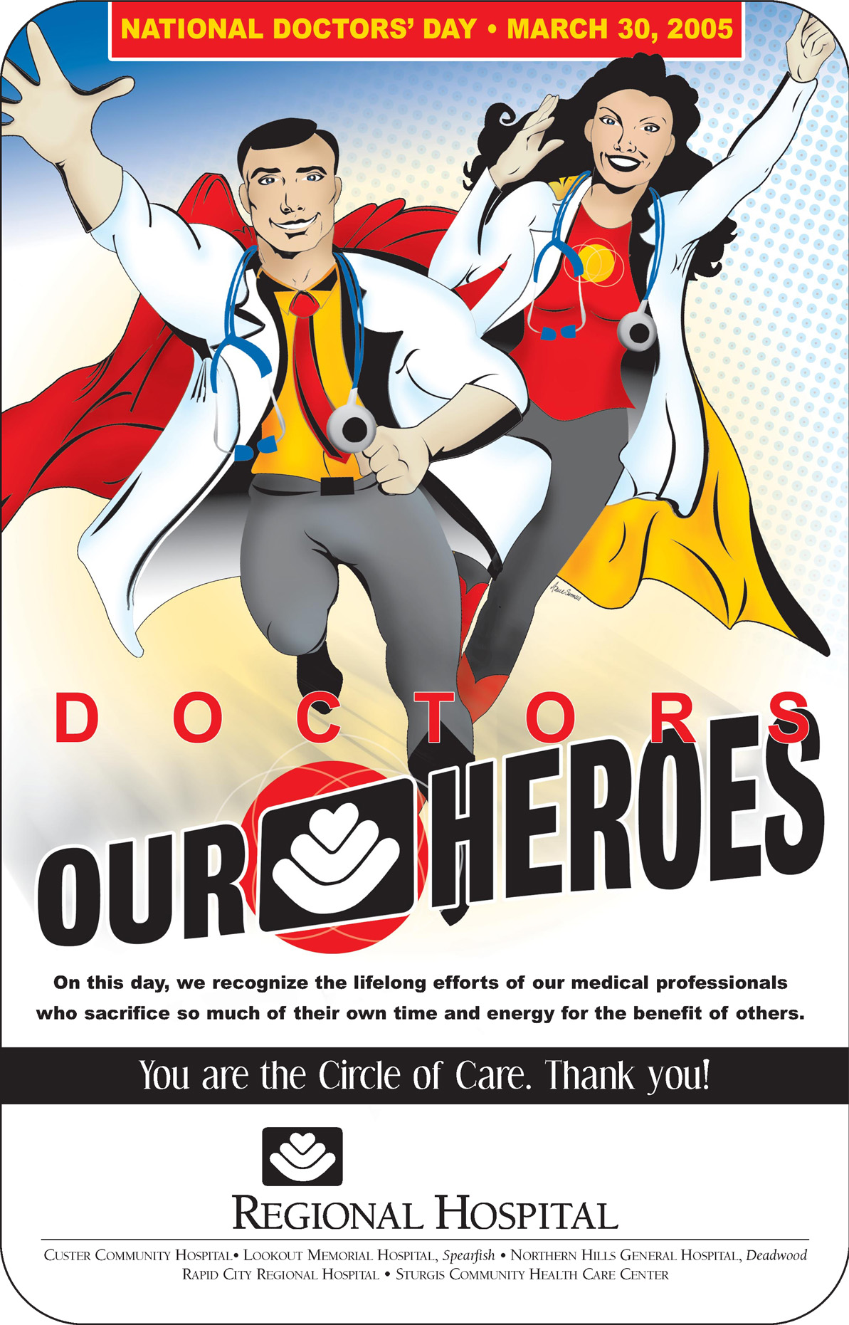 Heroes Ad with Illustration