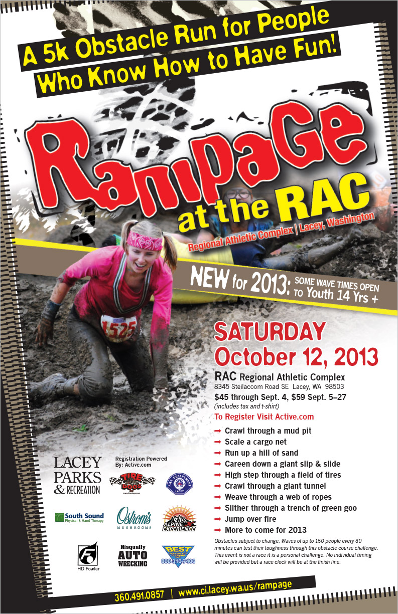 City of Lacey Parks & Recreation Rampage Poster Lacey, WA