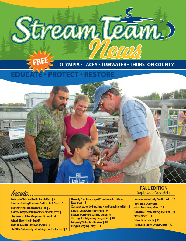Thurston County Stream Team Newsletter Fall 2015 Olympia, WA