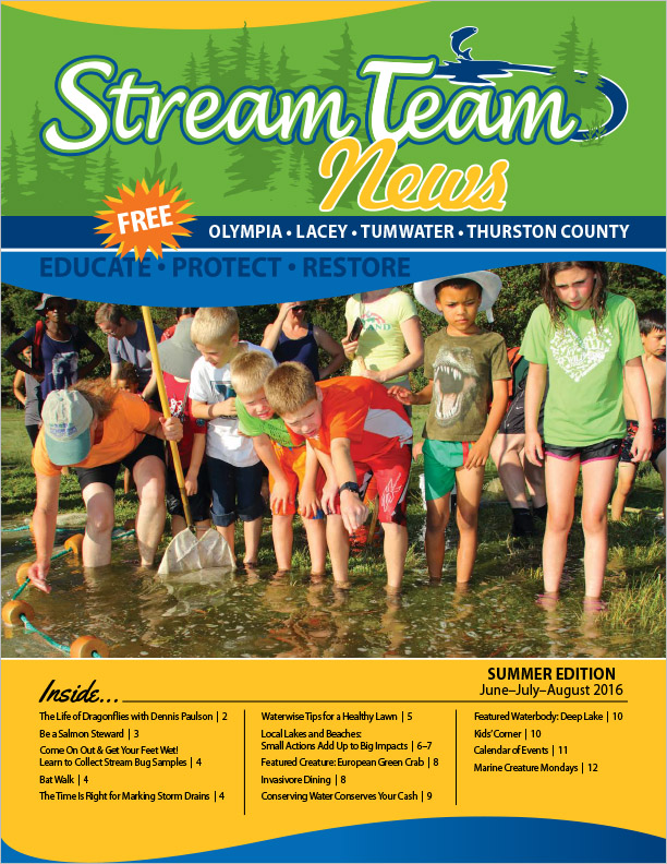 Thurston County Stream Team Newsletter Summer 2016 Olympia, WA