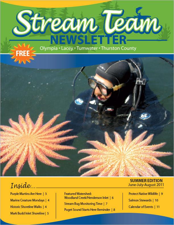 Thurston County Stream Team Newsletter Summer 2011 Olympia, WA