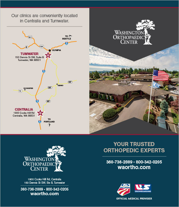 Washington Orthopedic Center Meet & Greet Brochure Centralia, WA