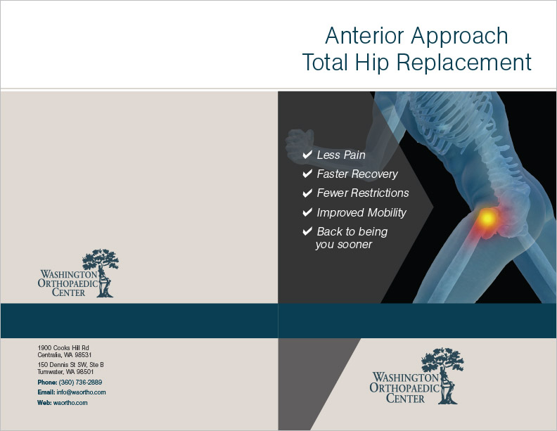 Washington Orthopedic Center Hip Brochure Centralia, WA