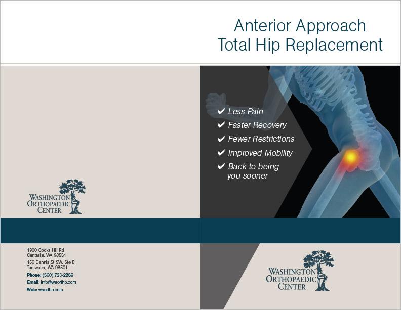 Washington Orthopedic Center Hip Brochure Centralia, WA