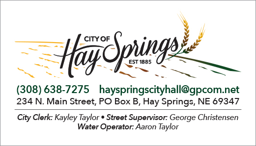 City of Hay Springs Business Card