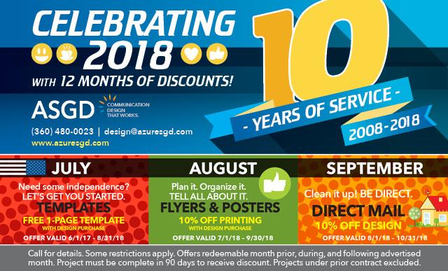 ASGD Discounts July–September 2018